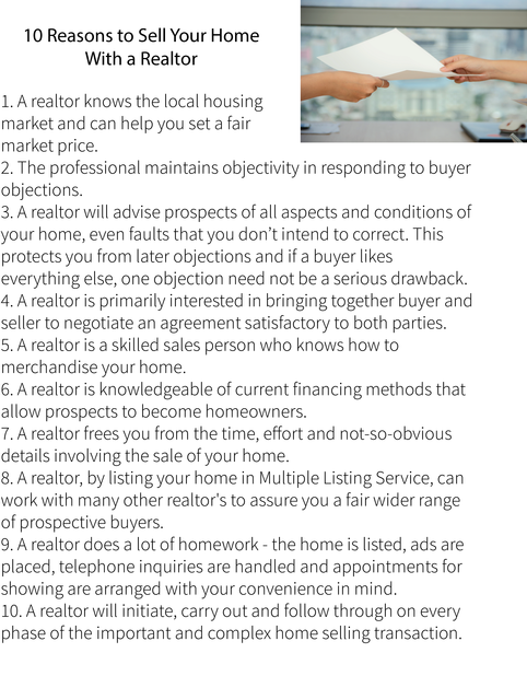 10 reasons to have a realtor